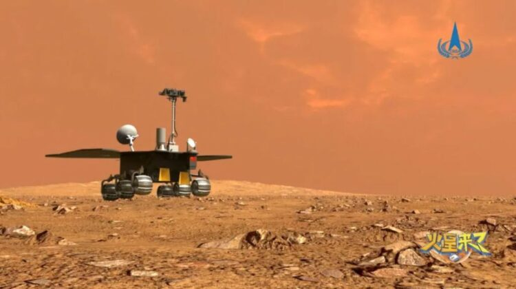 How will the first Chinese rover attempt to land on Mars?